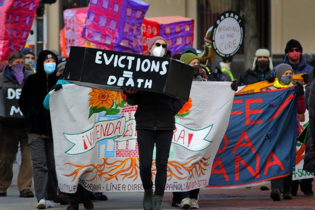 Housing advocates call on Biden to extend the eviction ban